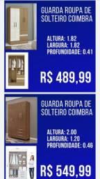 Guarda Roupa de Solteiro  Coimbra Oferta Especial