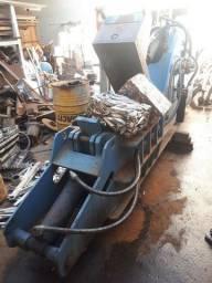 Prensa jacaré sucateira 60 toneladas reciclagem perfil,panela e latas