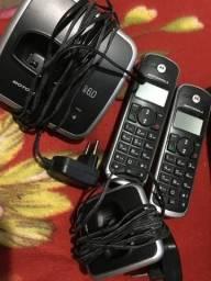 Telefone sem fio motorola com - dois - liga nas teclas não funcionam