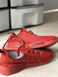 Tênis NMD todo vermelho,tamanho:39
