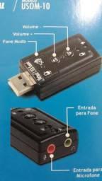 Placa de som USB  exbom