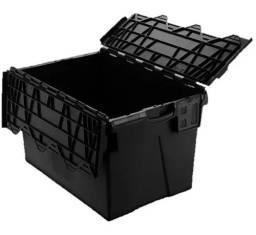 Título do anúncio: Caixa Plastica Industrial Forte Organizadora Tampa Fixa 65 L
