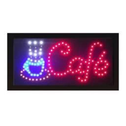 Placa de Led Café Letreiro Luminoso 110v