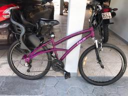 Bicicleta Caloi 500 com cadeirinha