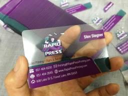 Qualidade que Fascina Cartão de PVC Transparente