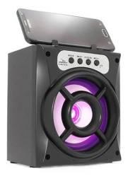 Caixinha De Som Portátil Bluetooth Mp3 Radio Fm