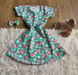 Vestido infantil atacado