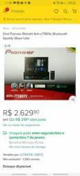 dvd  retratil Pioneer 7180tv semi novo pra vender rápido