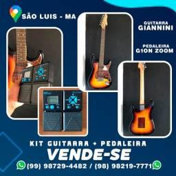 Guitarra Giannini  + pedaleira G1on zoom