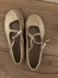 Sapatilha Dourada Zara Infantil