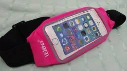 Suporte para celular pochete azul ou rosa