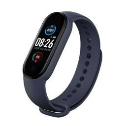 M5 Smartwatch Bluetooth 4.2 Com Monitor De Pressão Sanguínea E Frequência Cardíaca