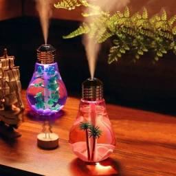 Umidificador e aromatizador lâmpada