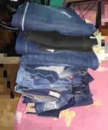 Lote com 19 calça jeans pouco usada do 38/40