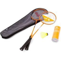 Kit Badminton Vollo 2 Raq. 3 Petecas de Nylon