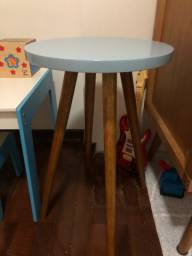 Mesa de Canto Redonda Azul