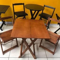 Conjuntos dobraveis de mesas e cadeiras apartir de 239,00 preço de fábrica+ entregamos