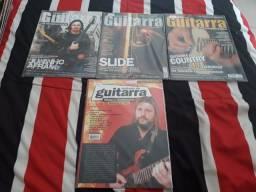 Diversas revistas de guitarra, baixo, bateria