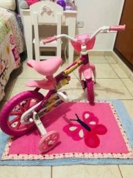 Bicicleta Aro 12 Lily Com Cesta E Rodinha Cairu / Rosa