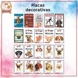 Placa decorativa pet