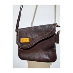 Bolsa pequena de couro legítimo