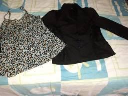 conj blusinha alcinhas+casaquinho renda p...chame pelo zap *