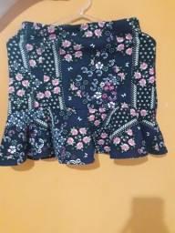Saia infantil /shorts