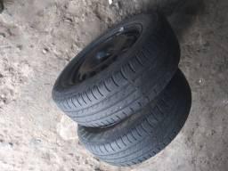 2 Pneus completos 175/65 R14 e 1 pneu 175/70 R14