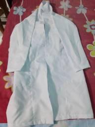 Jaleco branco tamanho P