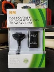 Bateria e cabo para controle xbox 360