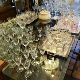 Taças e copos de Cristal diversos tamanhos (usados)