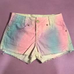 Short jeans tie dye