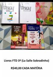 Livros FTD 3º La Salle R$400,00