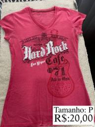 Camiseta Rosa Hard Rock