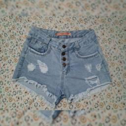 Shorte jeans cós alto tamanho 40 por 25$