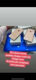 iPhone 6s 128gb lacrado no plástico garantia loja física