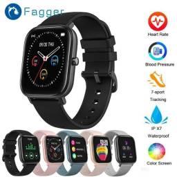 Relógio Smartwatch P8 Esportivo/com Frequência Cardíaca/Tela Touch IPX7