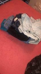 Lote de roupa calça jeans ,shot e bulsa da Cea 15$