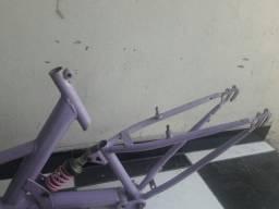 Quadro com amortecedor de bike aro 26