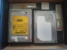 Memórias, HDs e processador