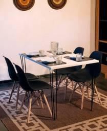 Liquida Fecha Mês!!! Conjunto de mesa estilo indsutrial 120x80 4 cadeiras