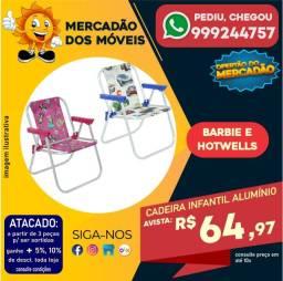 Título do anúncio: Cadeira Infantil Alumínio - Entrega Grátis