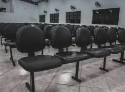 Cadeiras para igreja auditório logarinas