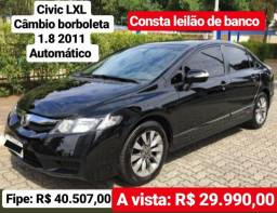Civic lxl 2011 1.8 flex - 2011
