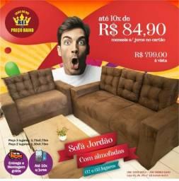 Sofa 3x2 lugares top de linha so 799.00 nas lojas do rei
