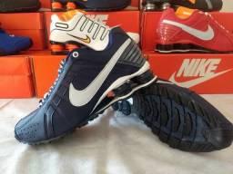 VÁRIOS  Tênis Nike Shox Marinho Branco 0b402244f44