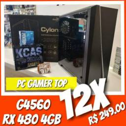Pc Gamer Top!! Proc. G4560 3.5Ghz Kaby Lake, 8GB Ram DDR4 ,SSD 120GB, HD500G, RX 480 4GB