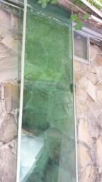 Porta de correr de vidro blindex