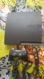 PlayStation 3 Slim + 1 Controle + 9 Jogos Originais