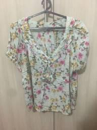 Blusa feminina estampada com manguinha